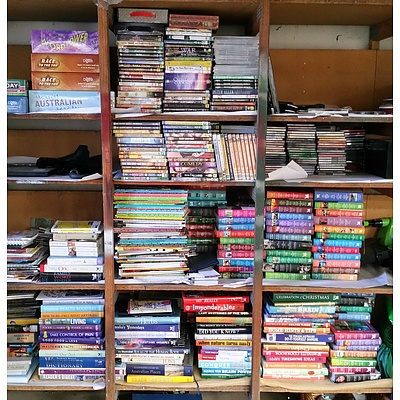 Quantity of Books, Videos, DVDs, Board Games