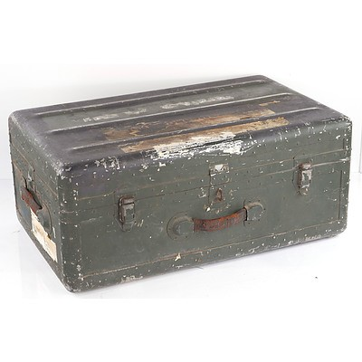 Riveted Aluminium Army Trunk Circa 1960s