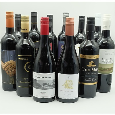 Case of 12x 750ml Mixed Red Wine, Including The Mill, Bayliss Road, Millstone and More