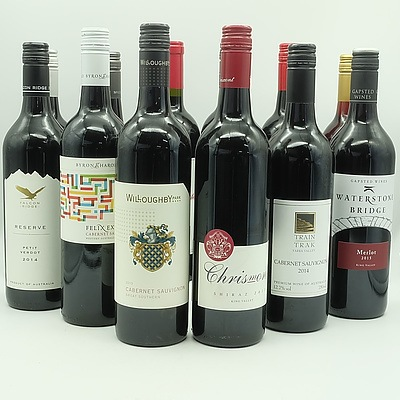 Case of 12x 750ml Mixed Red Wine, Including Chrismont, Willoughby Park, High Plains and More