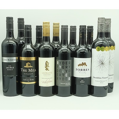 Case of 12x 750ml Mixed Red Wine, Including Dandelion Vineyards, Forbes, Lisa McGuigan and More