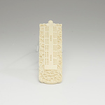 Chinese Export Carved Ivory Cribbage Board