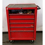 6 Drawer Rolling Tool Chest with Locking Wheels, Full of Equipment