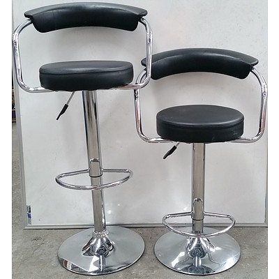 Height Adjustable Breakfast Bench/Bar Stools - Lot of Two