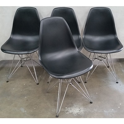 Contemporary Dining Chairs - Lot of Four