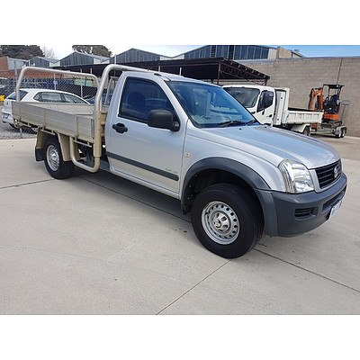 9/2004 Holden Rodeo LX RA Cab Chas Silver 3.5L