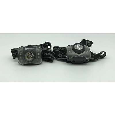 X Tactical 3 LED Headlamp with Red Safety Lights x2
