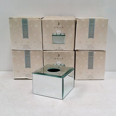 Six Dusk Moda Single Votive Candle Holders RRP $14.99 Each
