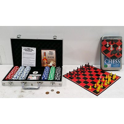 Poker Chip and Chess Set