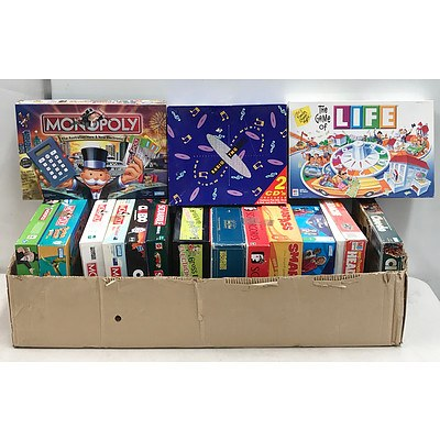 Large Lot of Board Games