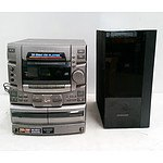 Samsung Subwoofer PS-CW1 and Pioneer CD Deck Reciever and Karaoke Model XR-P670F