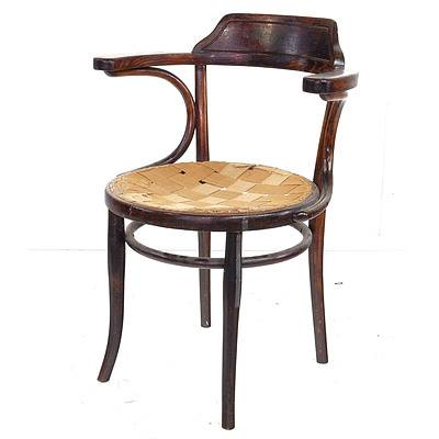 Antique Branded Thonet Bentwood Chair