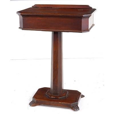 Small Victorian Mahogany Pedestal Table