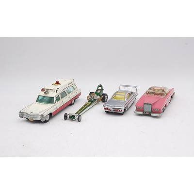 Vintage Dinky and Corgi Toy Cars including 'Sam's Car', 'Lady Penelope's Fab 1 Thunderbirds', 'Superior Rescuer' and 'Quartermaster Dragster'.