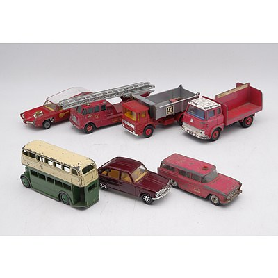 Assorted Vintage Dinky, Corgi and Lesney Toy Cars