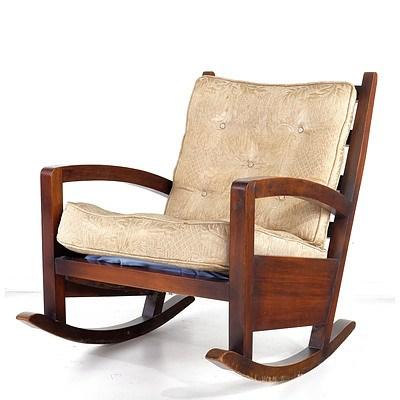 Stylish Mid Century Queensland Maple Rocking Chair