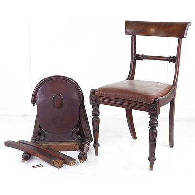 William IV Mahogany Dining Chair and a Victorian Shield Back Hall Chair for Restoration