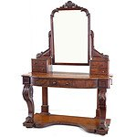 Late Victorian Burr Walnut Dressing Table Circa 1890