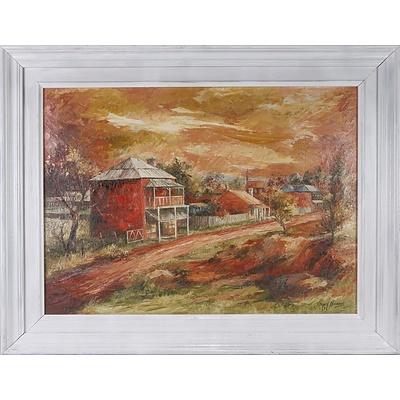 Joyce Harris, Hill End, Oil on Board