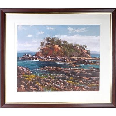 Ritchey Sealy (1962-) Snapper Island Batemans Bay  Oil on Board