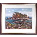Ritchey Sealy (1962-) Snapper Island Batemans Bay  Oil on Board