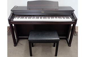 Roland HP 530 Digital Piano with Seat and Padded Cover Made in Japan