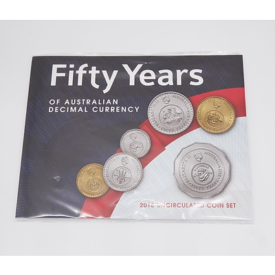 Fifty Years of Australian Decimal Currency 2016 Uncirculated Coin Set