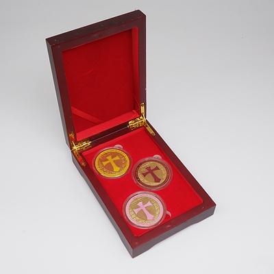 Three Knights Templar Cross-Part Medallions