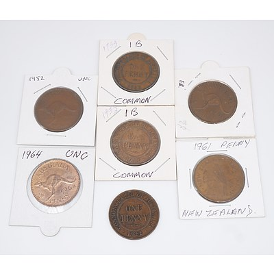 Group of Seven Pennies