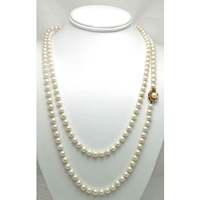 Vintage Extra Long (Triple Length) Pearl Necklace