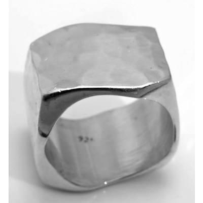 Modern Sterling Silver Ring