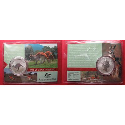 Australia Silver Kangaroo 1998