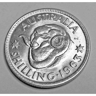 Australia Silver Coin: Shilling 1963 (X1)
