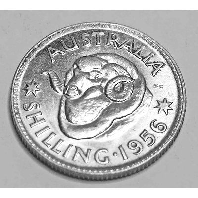 Australia Silver Coin: Shilling 1956 Melbourne