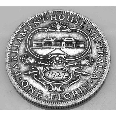 Australia Silver Coin: Canberra Florin 1927 Commemorative
