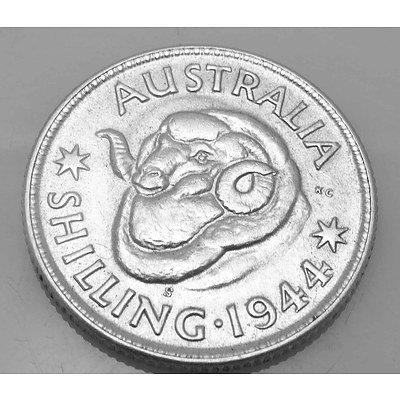 Australia Silver Coin: Shilling 1944 San Francisco