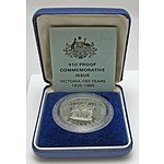 Australia Sterling Silver Proof $10 1985 Victoria