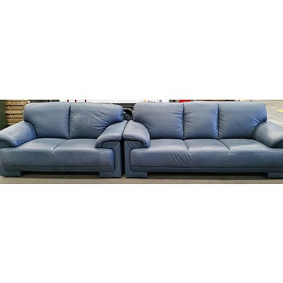Moroso Two Piece Leather Lounge Suite