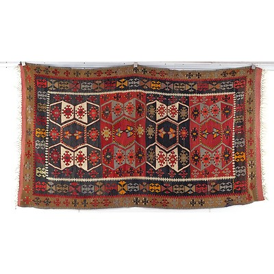 Hand Woven Wool Persian Slit Weave Kilim