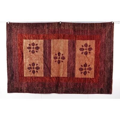Hand Woven Wool Pile Persian Gabbeh