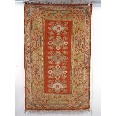 Hand Woven Wool Pile Milas from South Western Turkey