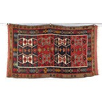 Hand Woven Wool Persian Slit Weave Kilim