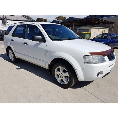 12/2005 Ford Territory TS (4x4) SY 4d Wagon White 4.0L