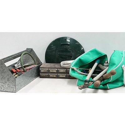Full Tool Box, Tool Bag & Small Sorting Shelves