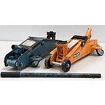 Two Hydraulic Trolley Jack's