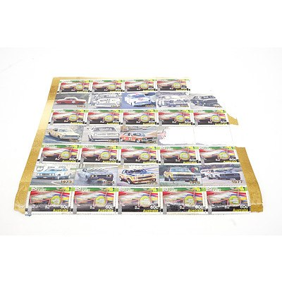 Block of 36 - 2012 50 Years Racing at Bathurst 60 Cent Stamps
