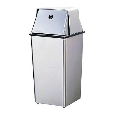 Bobrick Floor Standing Waste Receptacle With Hinged Lid - RRP $460.00 - Brand New