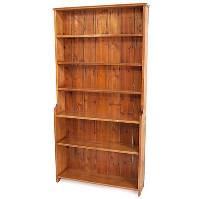 Nice Rustic Australian Pine Bookcase with Exposed Mortice Joinery