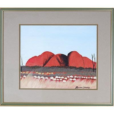 Bevan Young (Aboriginal dates unknown) Uluru 2, Oil on Canvas