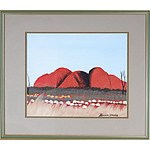 Bevan Young (Aboriginal dates unknown) Uluru 2, Oil on Canvas